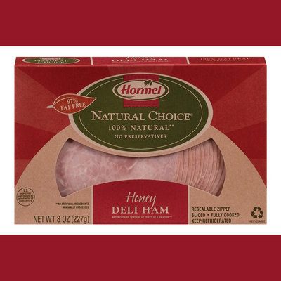 Hormel Natural Choice Sliced Honey Deli Ham 8 oz