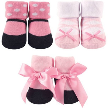 Baby Vision Luvable Friends 3 Pair Decorated Socks Gift Set - Ballet