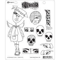 Ranger Dyan Reaveley Dylusions Cling Rubber Stamp - Dependable Dotty