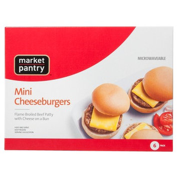 Market Pantry Mini Cheeseburgers 6 Count