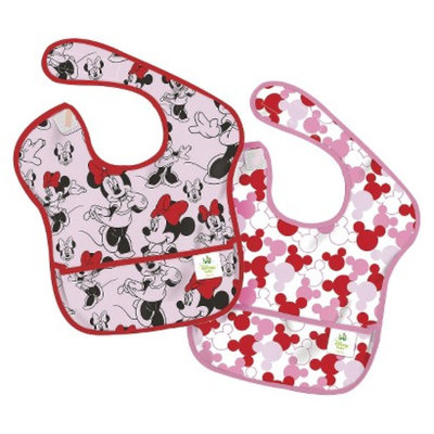 Bumkins Disney Baby Minnie Mouse 2pk Waterproof SuperBib Baby Bib Set