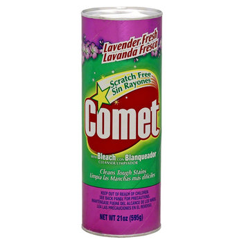 Comet with Bleach Disinfectant Cleanser Scratch Free Lavender Fresh 21 oz
