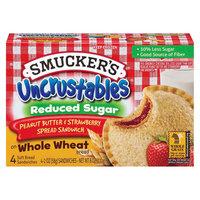 Smucker's Uncrustables Peanut Butter & Strawberry Jam Sandwich on Whole Wheat Bread 4-pc.