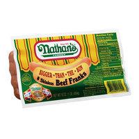 Nathans Nathan's Bigger-Than-The-Bun Skinless Beef Franks 16oz