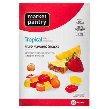 Market Pantry Tropical Flavored Fruit Snacks 10 Count