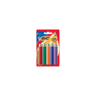 BIC Classice Lighters 5 pk