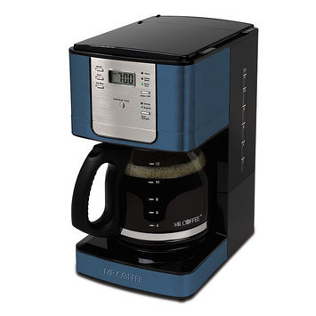 Mr. Coffee 12-Cup Programmable Coffee Maker (Blue)