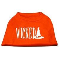 Mirage Pet Products 51-98 XXLOR Wicked Screen Print Shirt Orange XXL - 18