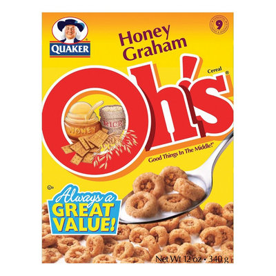 Honey Graham Squares Quaker Honey Graham Oh's Cereal 12 oz