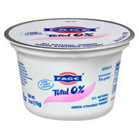 Fage Total 0% All Natural Nonfat Plain Greek Strained Yogurt 6 oz
