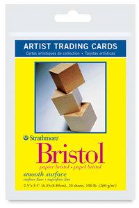 Strathmore Artist Trading Cards - Bristol Board - Vellum - Pack of 20