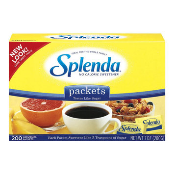 Splenda No Calorie Sweetener Packets 200 ct