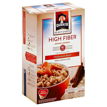 Quaker® High Fiber Instant Oatmeal Cinnamon Swirl