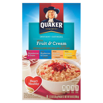 Quaker Instant Oatmeal Fruit and Cream 8 ct