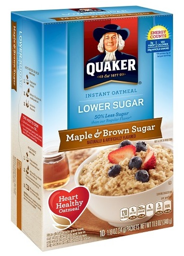 Quaker® Lower Sugar Instant Oatmeal Maple And Brown Sugar