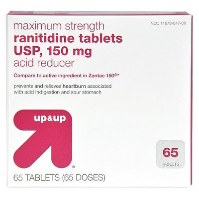 up & up Maximum Strength Acid Reducer Rantidine Tablets 150 mg - 65