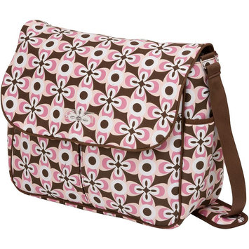 The Bumble Collection Michelle Courier Diaper Bag - Floral Geo (Pink)