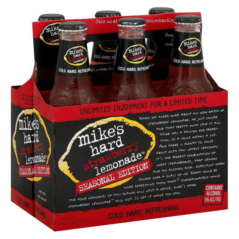 Mike's Hard Strawberry Lemonade Premium Malt Beverage 12 oz, 6 pk