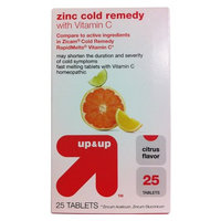 up & up Citrus Flavor Zinc Cold Remedy with Vitamin C Tablets 25-ct.