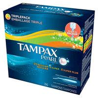 Tampax Pearl Triplepack Tampons - 36 Count (20 Regular, 8 Super, 8 Super Plus)