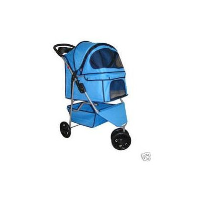 BestPet Classic 3 Wheel Blue Pet Stroller