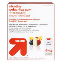 up & up Nicotine Polacrilex 4 mg Fruit Gum- 100 Count