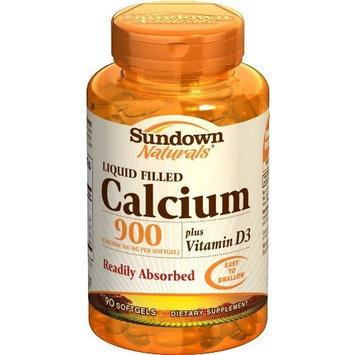 Sundown Naturals Calcium 900 Plus D, 90 Softgels (Pack of 4)