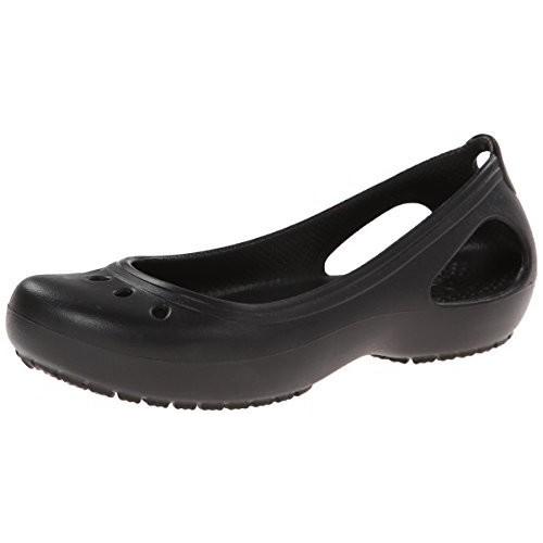 crocs Women's Kadee Ballet Flat [Black/Black, 9 B(M) US]
