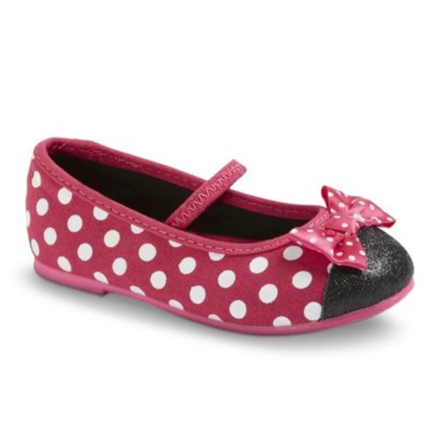 Disney Toddler Girl's Minnie Mouse Ballet Flats - Fuchsia 12