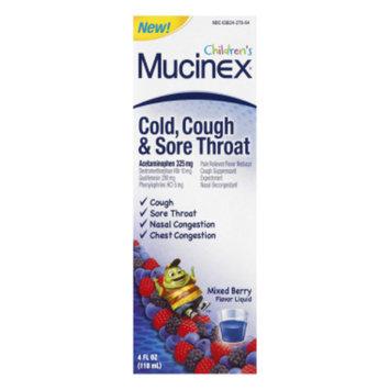 Mucinex Children's Multi-Symptom Cold and Fever Liquid, Very Berry, 4 Ounce