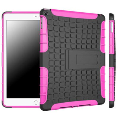 iPad Air 2 Case - roocase [BLOK Armor] iPad Air 2 2014 Hybrid Dual Layer Rugged Case Cover with Kickstand for Apple iPad Air 2 (2014) 6th Generation Latest Model, Magenta