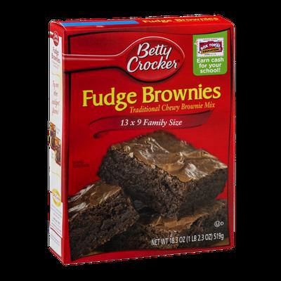 Betty Crocker Chewy Fudge Brownies Mix 13 x 9 Family Size
