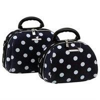 Rockland Fox Luggage 2 PC. BLACK DOT COSMETIC SET, LUCA VERGANI