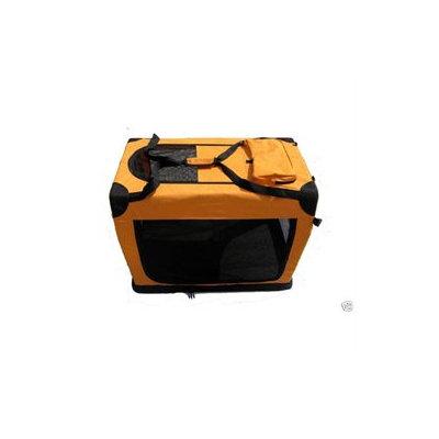 Bestpet 42 Portable Orange Pet Dog House Soft Crate Carrier