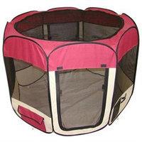 Bestpet Burgundy Pet Dog Cat Tent Puppy Playpen Exercise Pen L