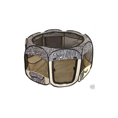 Bestpet Zebra Pet Tent Exercise Pen Playpen Dog Crate S