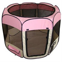Bestpet Pink Dog Cat Tent Puppy Playpen Exercise Pen L