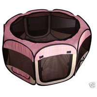 Betpet Pink Grid Pet Dog Cat Tent Puppy Playpen Exercise Pen S