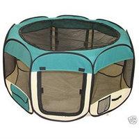 Bestpet Teal Pet Tent Exercise Pen Playpen Dog Crate S