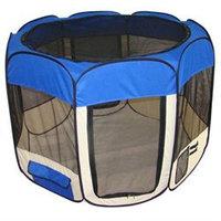 Bestpet Blue Dog Cat Tent Puppy Playpen Exercise Pen XS