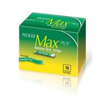Nova Max Plus Ketone Test Strips - 10 Ct