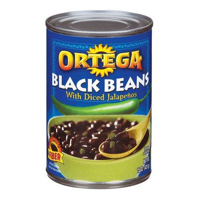 Ortega Black Beans with Diced Jalapenos 15-oz.