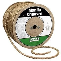 Lehigh Group 1/4 X 1,200' Natural Manila Twisted Rope