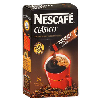 Nescafe Clasico Pure Instant Coffee Packets 0.07 oz 8 ct