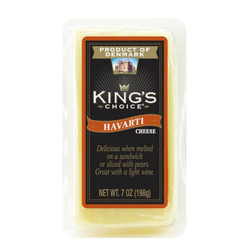 Denmarks Finest King's Choice Danish Havarti Cheese 7 oz