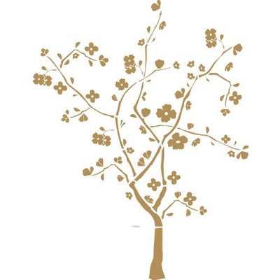 RoomMates RMK1165GM Cherry Blossom Tree Peel & Stick Wall Decal