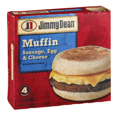 Jimmy Dean Muffin Sandwiches Sausage, Egg & Cheese - 4 CT