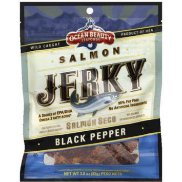 Ocean Beauty Black Pepper Salmon Jerky, 3 oz, (Pack of 12)