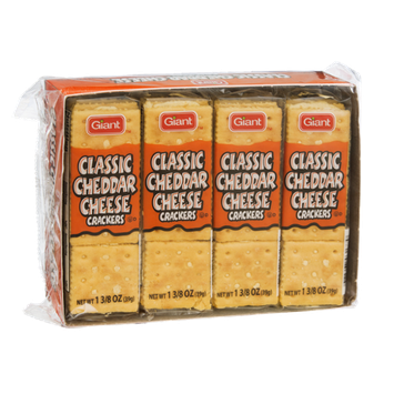 Giant Classic Cheddar Cheese Crackers - 8 PK