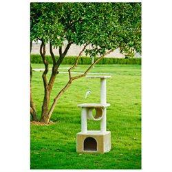 BestPet 42 Beige Cat Tree Condo Scratcher